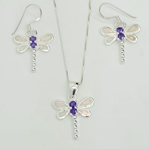 Created Opal Dragonfly Set